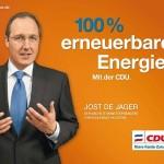 Wahlplakat Jost de Jager